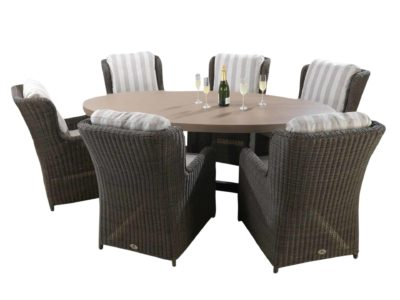 6-Seat-Florence-Tan-with-Clinton-Brown-Chairs_11823-1