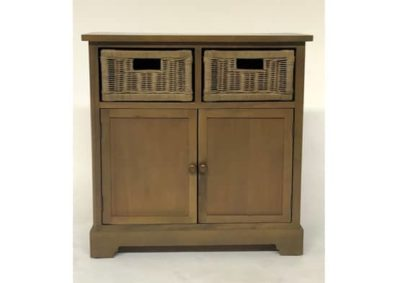 Olive Cupboard Rattan Drawers