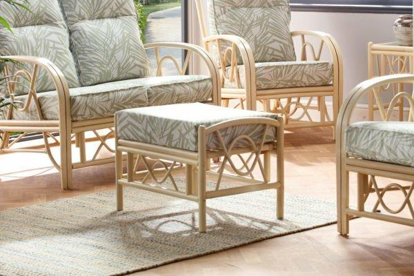 bali footstool tropical set