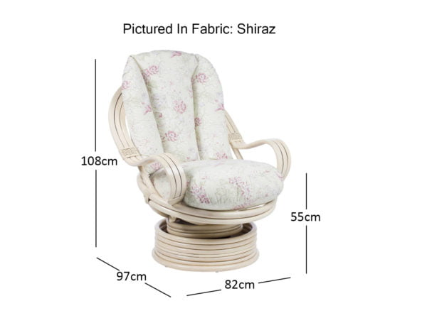 Bali Laminated Swivel Rocker Chair Dimensions