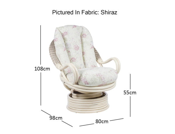 Bali Swivel Rocker Chair Dimensions