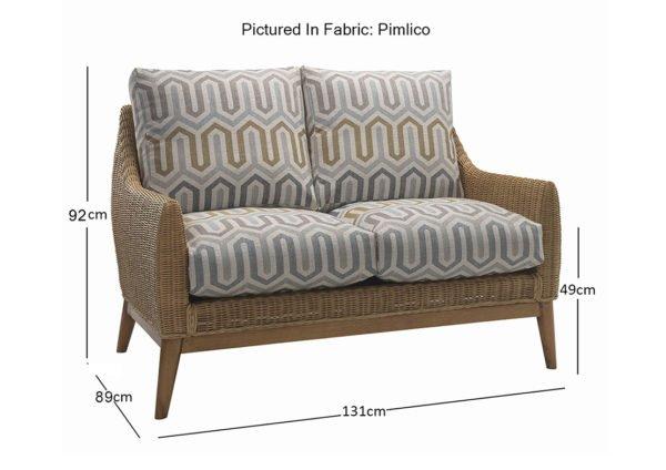 camden 2 seater sofa in pimlico 10783 dimensions 1