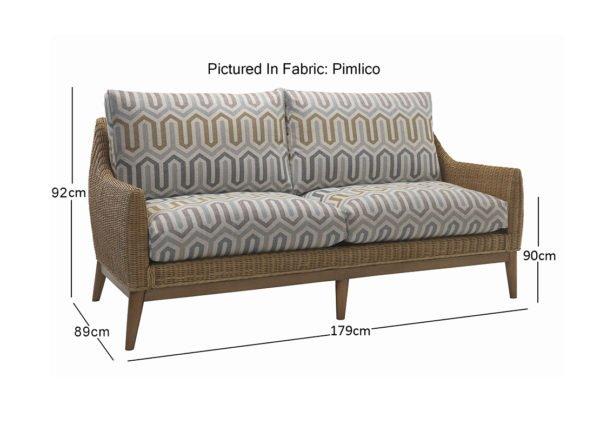 camden 3 seater sofa in pimlico 10786 dimensions 1