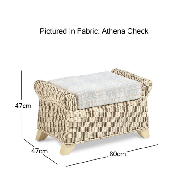 Clifton Natural Wash Athena Check Footstool Dimensions