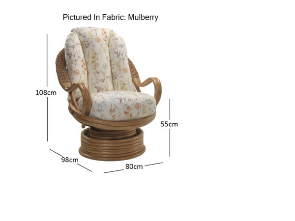 Oslo Light Oak Swivel Rocker In Mulberry Dimensions
