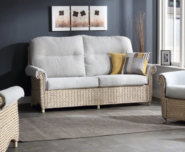 13 harlow pebble fabric 3 seater sofa lifestyle