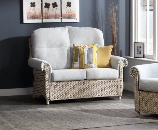 14 harlow pebble fabric 2 seater sofa lifestyle