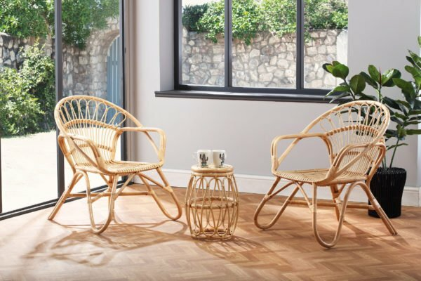 2 natural nordic chairs and beijing lamp table lifestyle