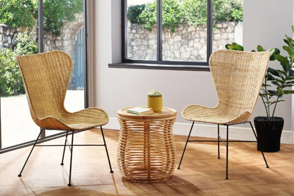 2 natural porto wing chairs and royal lamp table lifestyle