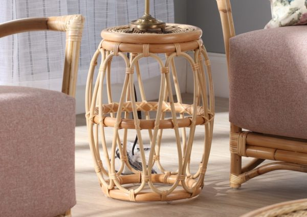 Beijing-Natural-rattan-Lamp-Table
