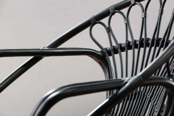 black nordic chair detail