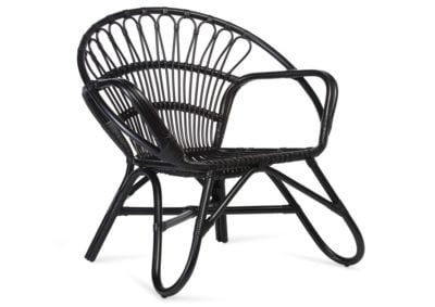 Black-Nordic-Rattan-Chair