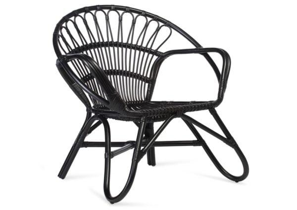 Black-Nordic-Rattan-Chair
