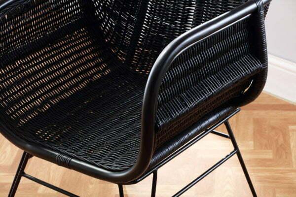 black porto occasional chair detail