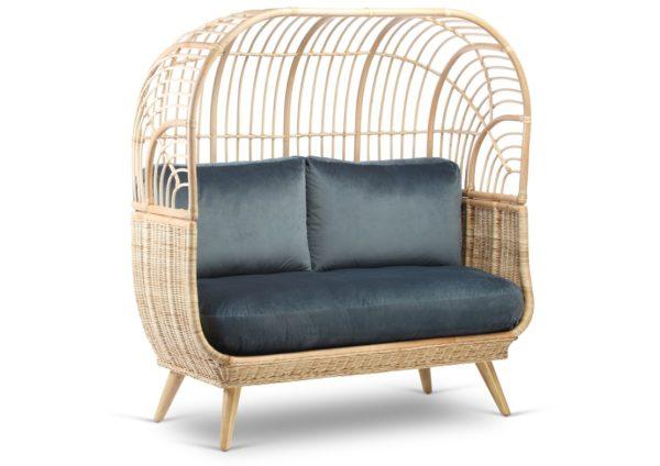 Cocoon-Sofa-in-Velvet-Blue