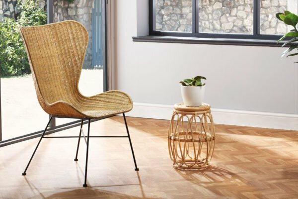 natural porto wing chair and beijing lamp table lifestyle