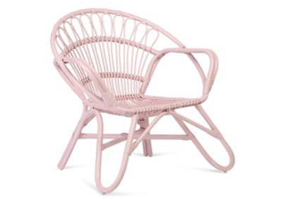 Nordic-Pink-Rattan-Chair