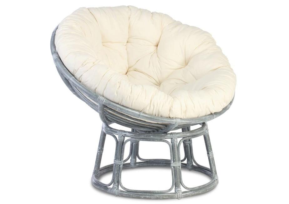 Papasan Greywash Chair position 2