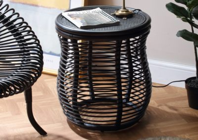 Royal-Black-Wicker-LampTable