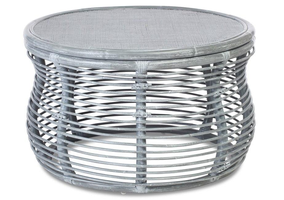 Royal Grey wash Wicker Coffee Table