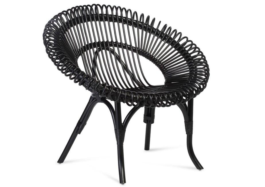 Shanghai Wicker Chair Black