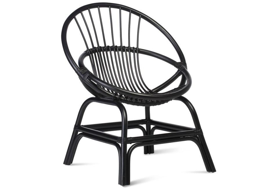 Wicker Moon Chair Black