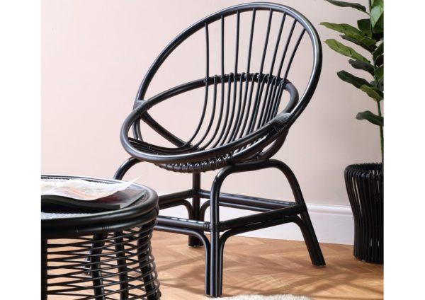 Wicker-Moon-Chair-Black