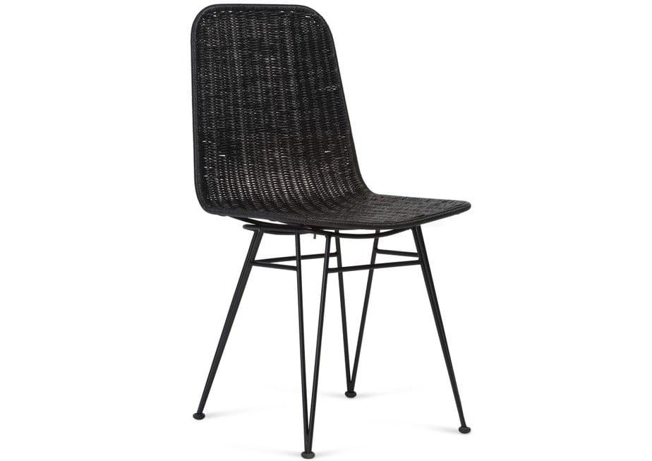 Wicker Porto Dining Chair Black