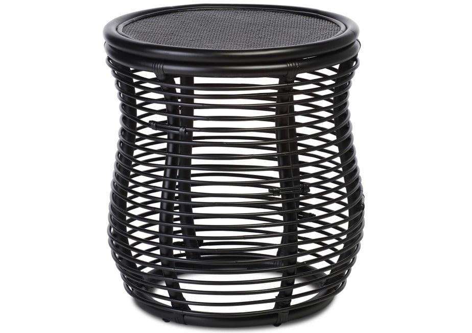 Wicker Royal Lamp Table Black