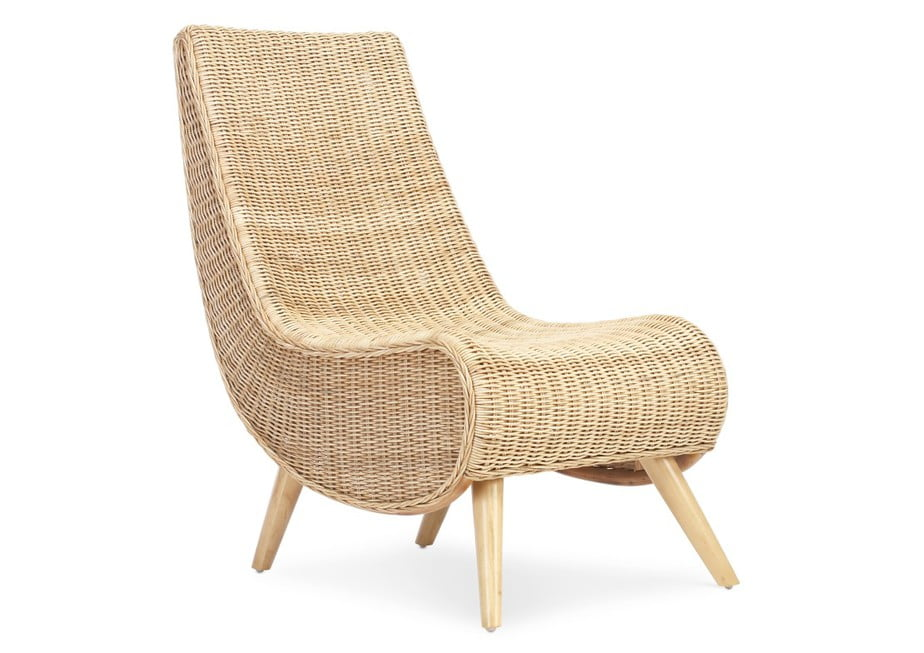 Wicker Teardrop Chair