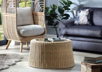 Woven-round-rattan-coffee-table-in-Natural