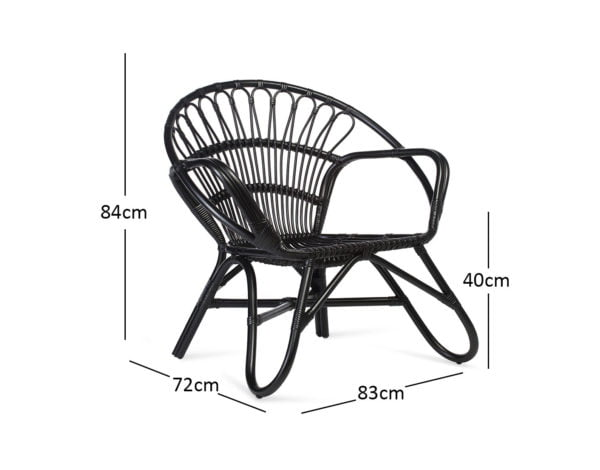 Black Nordic Chair Dimensions