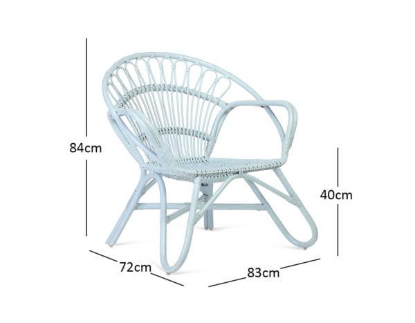 Blue Nordic Chair Dimensions
