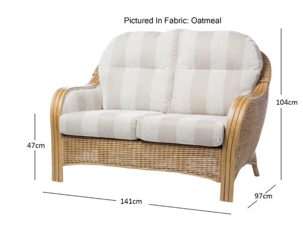 Centurion 1 2 Seater Sofa In Oatmeal Dimensions