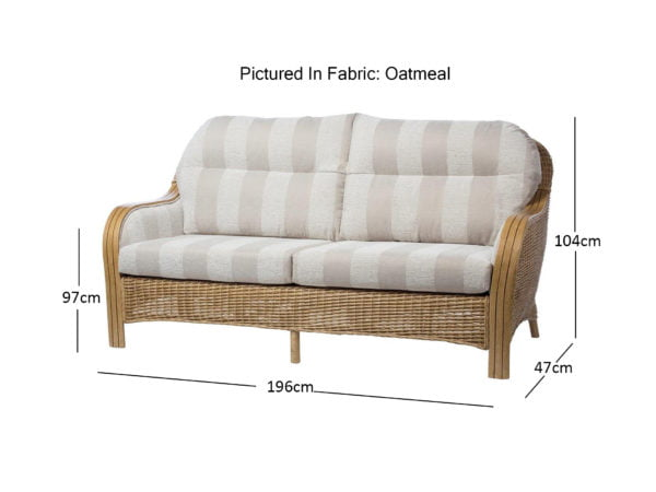 Centurion 9 3 Seater Sofa In Oatmeal Dimensions
