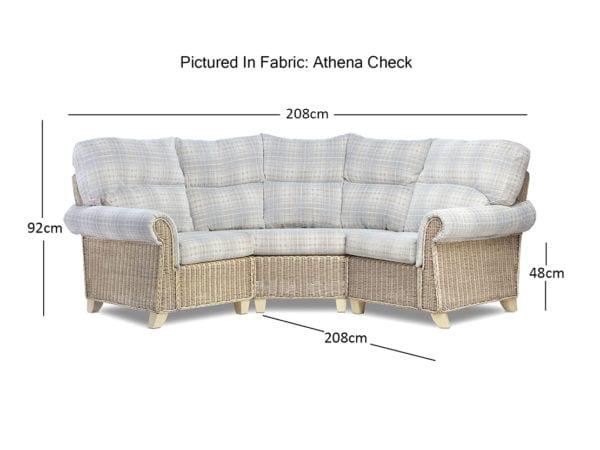 Clifton 3pc Modular Set With Athen Check Dimensions 1