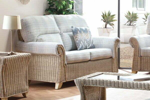 Clifton Natural Wash Athena Check 2seater Sofa 2
