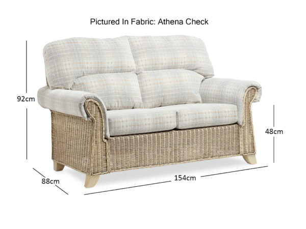 Clifton Natural Wash Athena Check 2seater Sofa Dimentions