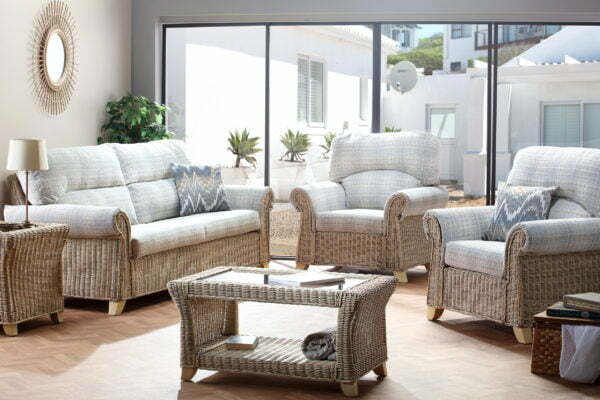 Clifton Natural Wash Athena Check 3seater Sofa 3pc Set