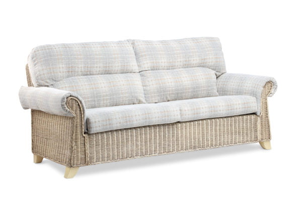 Clifton Natural Wash Athena Check 3seater Sofa