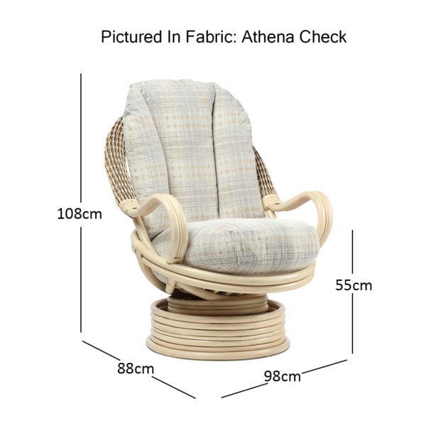 Clifton Natural Wash Athena Check Deluxe Rocker Dimensions