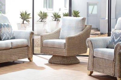 clifton-natural-wash-athena-check-djon-swivel-chair-set