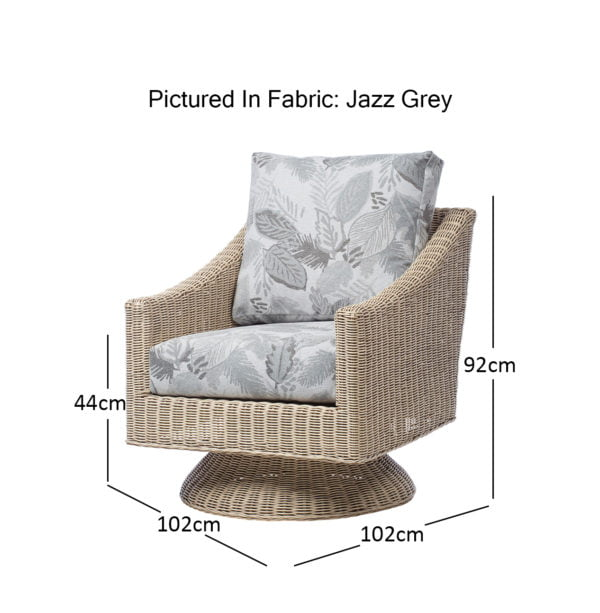 Corsica 4 Dijon Swivel In Jazz Grey Dimensions1