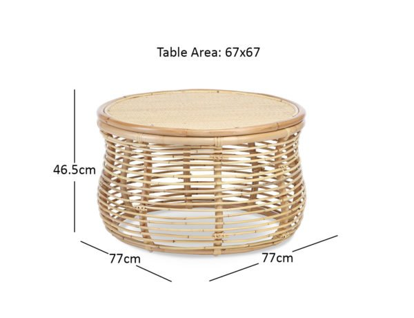 Natural Royal Coffee Table Cutout Dimensions