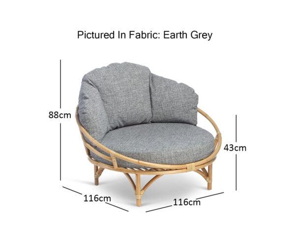 Natural Snug In Earth Grey Dimensions