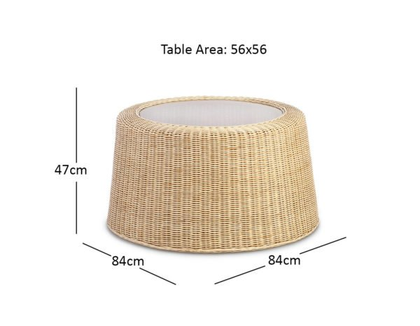 Natural Woven Coffee Table Dimensions