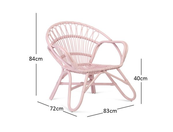 Pink Nordic Chair Dimensions