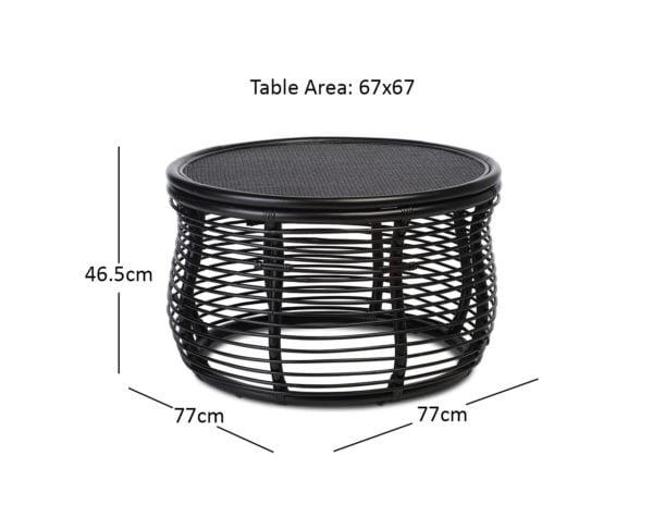 Royal Coffee Table Black Dimensions