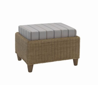 Seville Footstool In Linen Taupe 11470
