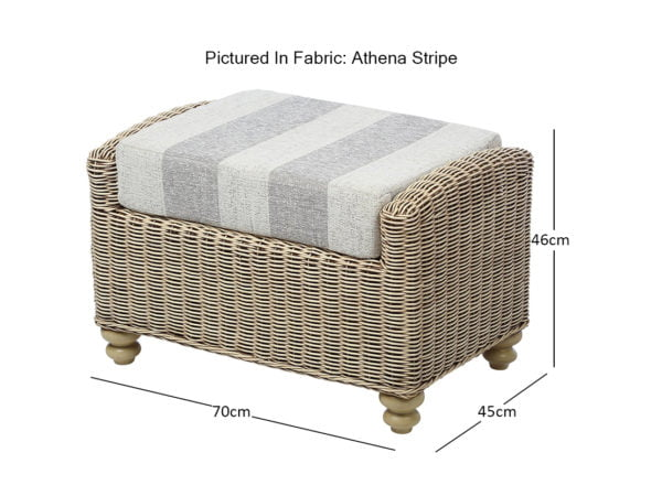Stamford 2 Footstool In Athena Stripe Min Dimensions